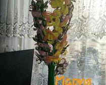Гладиолусы из бисера в натуральную величину