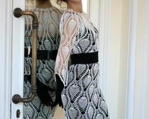 Вязание крючком: платья для женщин с рисунком ананас