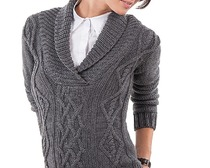 Вяжем женский пуловер ромбами