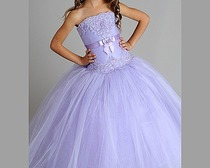 Изысканное бальное платье.