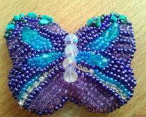 Брошь из бисера - бабочка