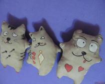Пошив игрушек: Кофейбашки-коты