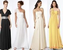 Выкройка разных моделей платьев в пол