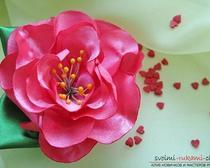 Мастер класс - делаем цветы из лент своими руками с фото и описанием