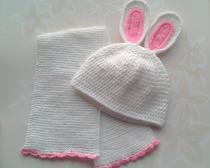Вязание крючком для детей шапочки с ушками и шарфик спицами