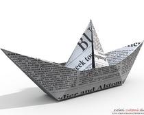 Красивые кораблики в стиле оригами