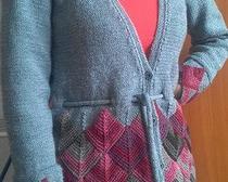 Вязание спицами: модный кардиган