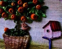 Апельсиновое дерево. Мастер-класс