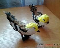 Поделки из бумаги: птицы в технике бумагопластика