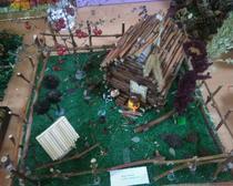 Сказочный дом Бабы Яги из веточек