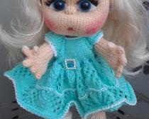 Вязание спицами кукол: Снегоурочка