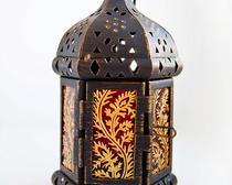 Декор подсвечника, роспись по стеклу