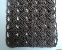 Вязание крючком модного шарфа