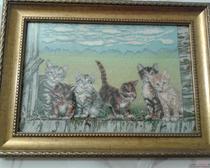 Вышивка крестом: картина Котята