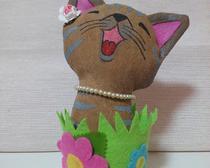 Котик из носка Цветочек