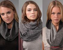 Вязание шарфа-снуда по схеме