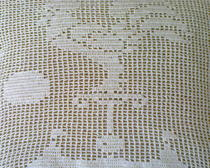 Петух в технике филейного вязания