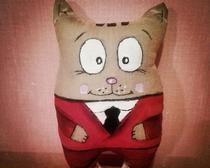 Мягкая игрушка: кофейный котик