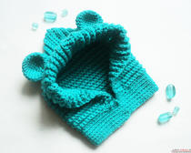 Вязание крючком для детей шапочки с ушками