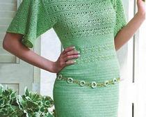 Элегантные платья для женщин крючком.