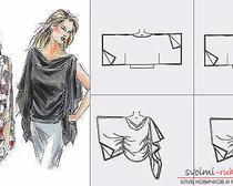 Шитье. Выкройка блузы с широкими рукавами