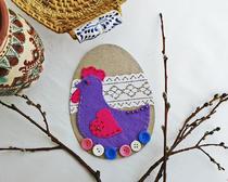 Сувениры из фетра: пасхальные яйца