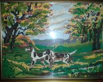 Вышивка картин: Собачки