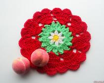 Простые схемы вязания салфеток крючком. Салфетка-цветок