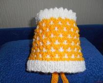 Вязание спицами: Шапочка для новорожденного