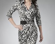 Выкройка модного платья с запахом