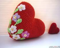 Вязание игрушек крючком - схемы. Цветущее сердце амигуруми