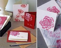 Открытка с оригинальным рисунком «Цветок розы»