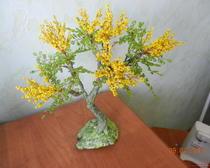 Дерево из бисера: Мимоза