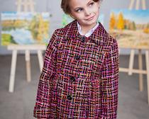 Выкройка интересного пальто для девочки