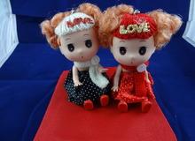Милые куклы близняшки из надписью Love