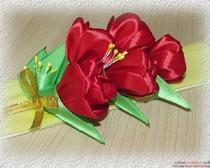 Мастер-класс «Тюльпаны из атласных лент»