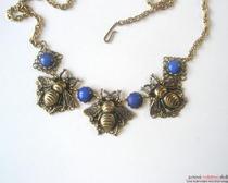 """Серьги """" Пчелки """" и ожерелье"""