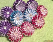 Идеи канзаши: цветок «зефирка» своими руками