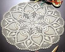 Круговое вязание салфетки