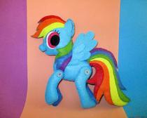 Игрушки из фетра: Пони Радуга