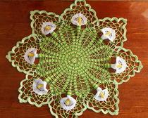 Салфетка крючком: Цветок невесты