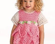 Вязание крючком платьев для девочек.