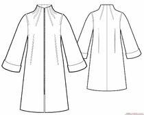 Как выкроить и пошить пальто с цельнокроеным рукавом