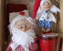 Шьем кукол на Новый год: Сантик и его помощник