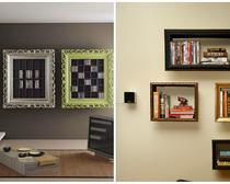 Стильные предметы мебели своими руками: изготовление книжной полки из рамы для картин