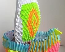 Оригами объемного корабля-линкора