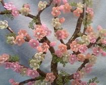 Деревья из бисера: Цветущая сакура