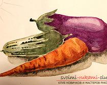 Рисование натюрморта при помощи красок акварельных