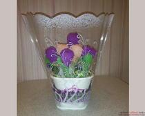 Цветы из бумаги своими руками «Крокусы с конфетами»
