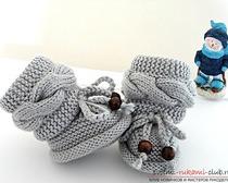 Стильные зимние пинетки-сапожки для девочки